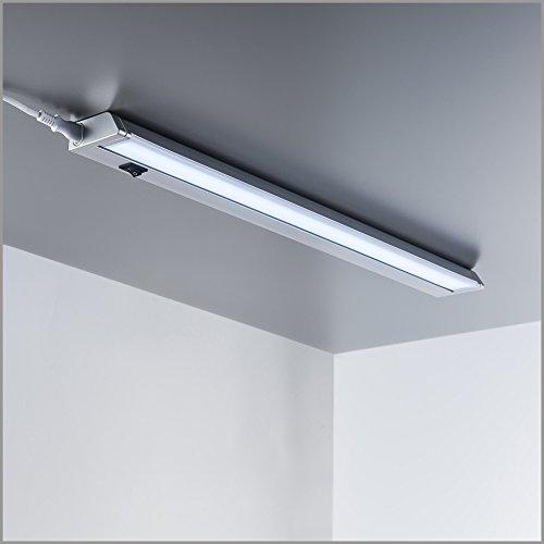 B.K.Licht I schwenkbare LED Unterbauleuchte I Lichtleiste I neutralweiße Lichtfarbe 4.000K I 1.000lm I Küchenleiste I Küchenleuchte I Küchenlampe I Schrankleuchte I Schranklampe I Titan I Länge: 56cm