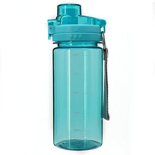 Bonison Fliter Water Bottle Party Favor Reusable Water Bottles BPA Free Eddy Bottle 20OZ Blue