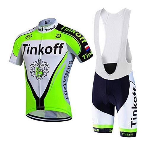 TOPBIKEB Ropa Ciclismo Verano para Hombre Maillot Ciclismo +Culotes 30D Gel Equipos