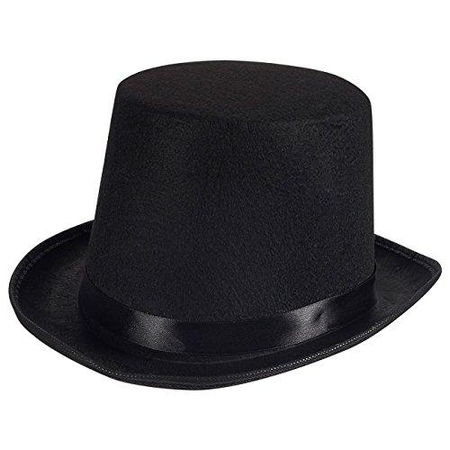 Blue Panda toverhoed - zwarte vilten hoed voor dames en heren, eenheidsmaat voor de meeste volwassenen