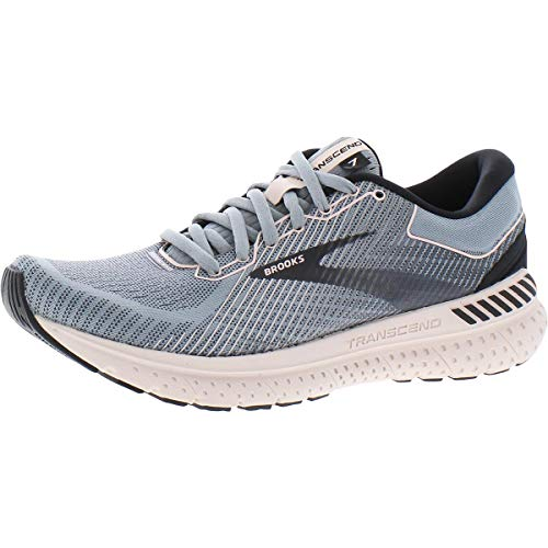 Brooks Womens Transcend 7 Running Shoe - Grey/Black/Hushed Violet - B - 7
