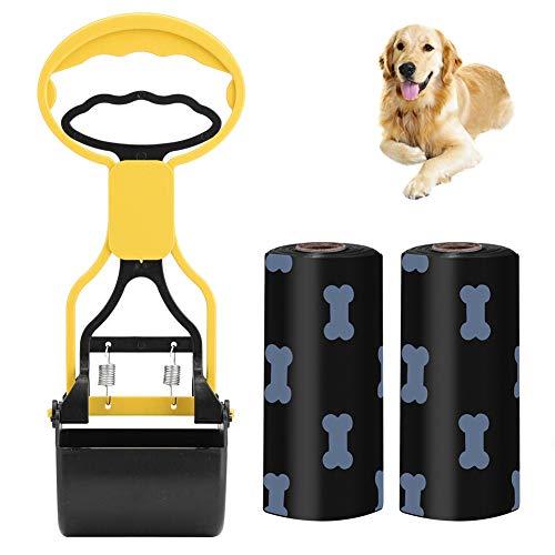 BONHHC Agarrador portátil para desechos de Perros, Pala para estiércol, Pala para excrementos de Perros y Gatos, Pala para excrementos de Perros y Gatos para Exteriores/Interiores