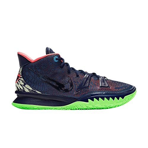 Nike Kyrie 7 Zapatos De Basquetbol, azul (Mdnt Nvy/Mdnt Nvy/Lgn Pls), 42 EU