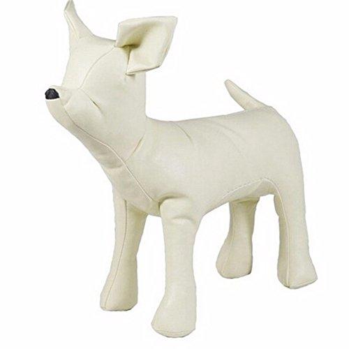 Pawstrip 犬トルソー 犬マネキン ペットトルソー 犬型 マネキン PUレザー ドッグトルソー モデル 展示用 ペットおもちゃ(ホワイト,S)