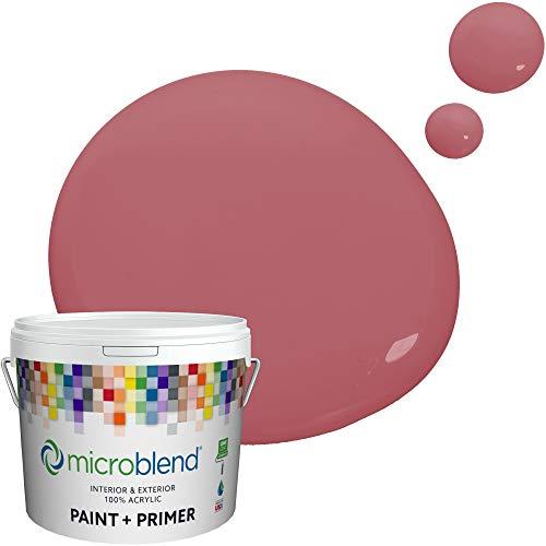 Microblend Exterior Paint and Primer - Mauve/Royal Raquel, Sample, Premium Quality, One Coat Hide, Low VOC, Washable, Microblend Urban Collection