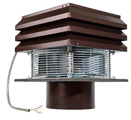 Gemi Electronica - Aspirador, extractor de chimenea, extractor de humos para chimenea, modelo base, modelo redondo de 25 cm…
