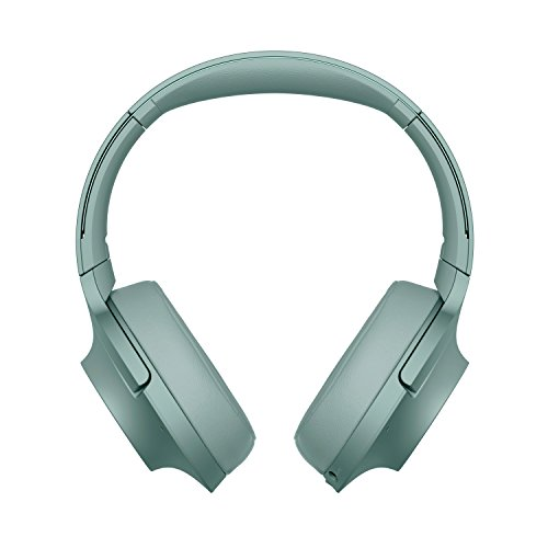 Sony WHH900N - Auriculares de Diadema Inalámbricos (H.Ear, Hi-Res Audio, Cancelación de Ruido, Sense Engine, Bluetooth, Compatible con Aplicación Headphones Connect) Verde, con Alexa integrada