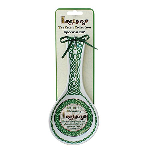 Celtic Collection Spoon Rest With Irish Blessing Design