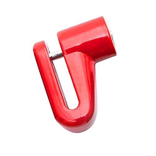 Louyihon-Neue Hohe QualitäT Sicherheit Diebstahlschutz Schwere Motorrad Fahrrad Licht Motorrad Roller Rotorschloss Diebstahlsicherung Sicherheitsschloss Schwarz Wasserdicht (Rot)