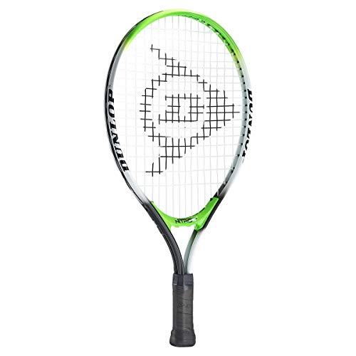 "Dunlop Sports Nitro Junior Tennis Racket, 19"", White/Green/Black"