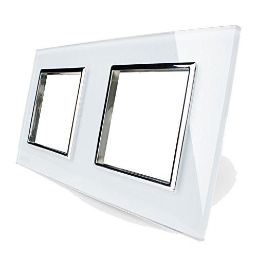 Rahmen doppelt aus Sicherheitsglas von Garnitura®, weiß
