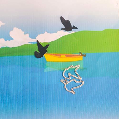 WBSNA Pájaro Paloma Volando decoración de Corte Troquelado Nuevo Cuchillo Troquelado Forma de Corte de Metal 3D Papel de Arte DIY decoración
