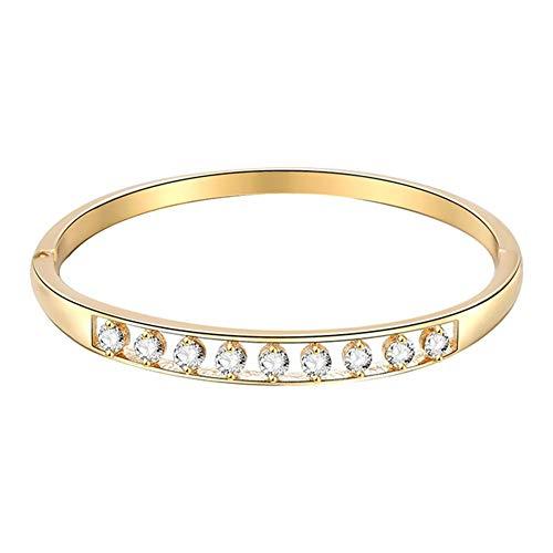 BIGBOBA Kvinnor snyggt delikat armband runt strass armband smycken för dam vänner flickvän fru födelsedagspresent