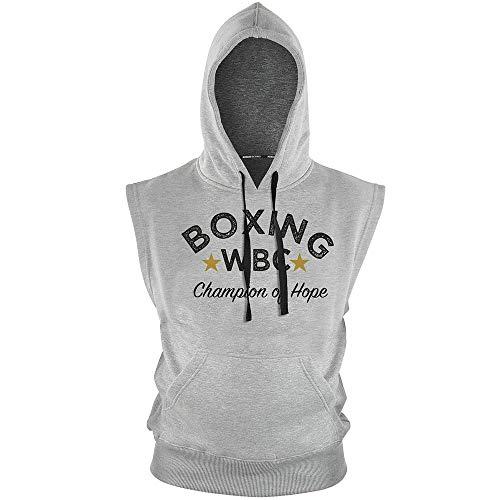 adidas - Sudadera con capucha sin mangas WBC, color gris, talla XXL