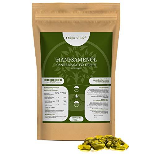 Origin of Life | Hennepolie | 250 softgelcapsules | Dagelijkse portie van 2000 mg | Koudgeperst en natuurlijk