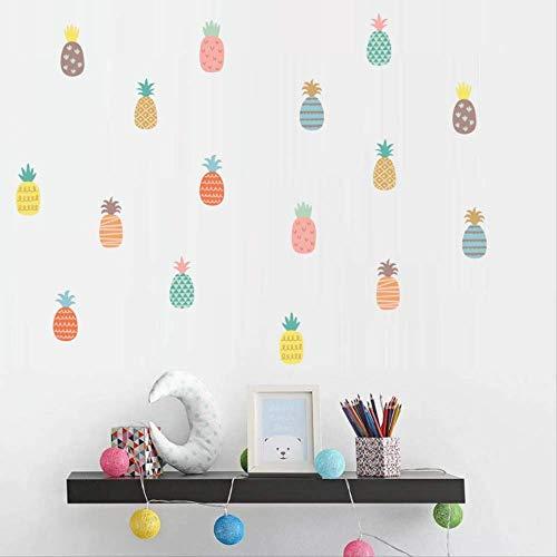 Muursticker kinderkamer creatieve doe-het-zelf kleurig ananaspatroon muursticker, bank woonkamer slaapkamer transfer zelfklevende stickers