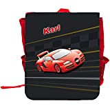 Kinder-Rucksack mit Namen Karl und schönem Racing-Motiv   Rucksack   Backpack
