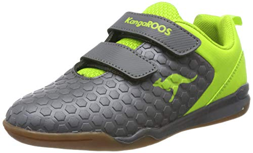 KangaROOS Unisex-Kinder Speed Court V Multisport Indoor Schuhe, Gelb (Steel Grey/Lime 2014), 27 EU