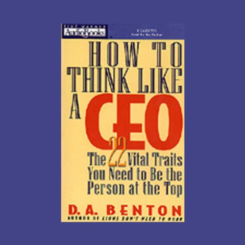 How to Think Like a CEO audiobook cover art
