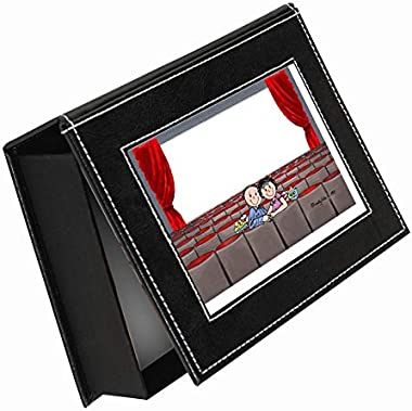 PrintedPerfection.com Personalized Friendly Folks Memory-Keepsake Box: Lovers in The Theatre, Date, Anniversary - Couple