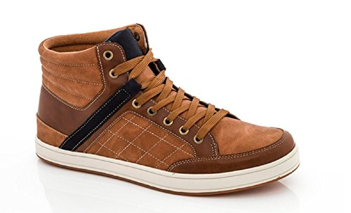 Franco Vanucci S/195 Tan Hi Top Sneaker Men's 7 (FM 4 1957)