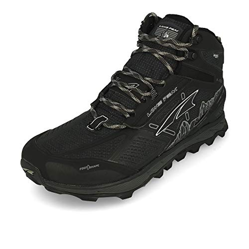 ALTRA Men's Lone Peak 4 Mid RSM Waterproof Trail Running Shoe, Black - 10.5 D(M) US