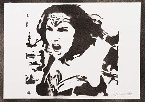 Wonder Woman Poster Justice League Plakat Handmade Graffiti Street Art - Artwork