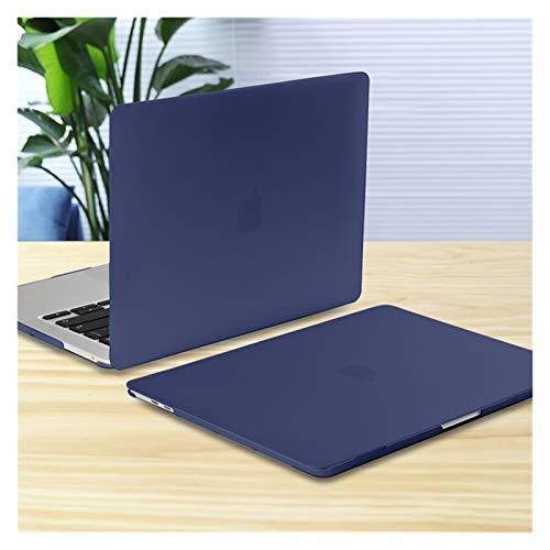 YNLRY Funda para MacBook Pro Air 11 12 13 15 16 pulgadas A2289 A2179 A2337 mate transparente cubierta de teclado y película de pantalla (color azul marino, tamaño: 2017 Pro 13 A1708)
