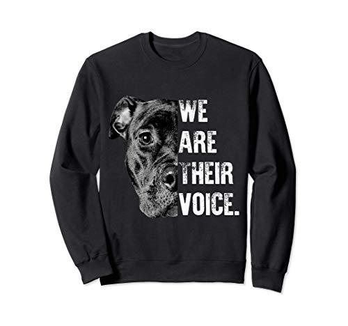 Hombre mujer amor pitbull / Somos su voz Sudadera