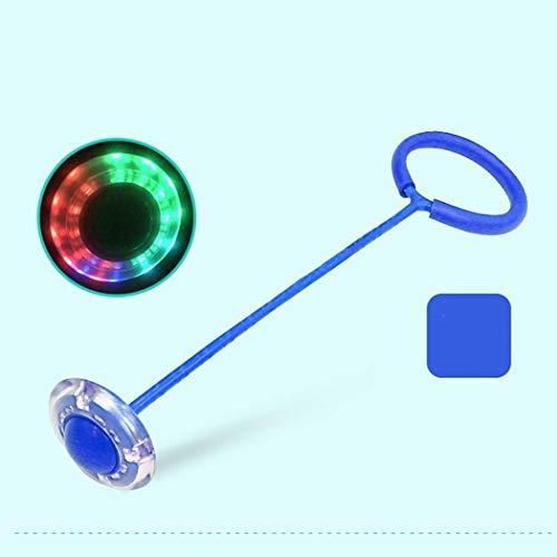 GUIGSI Kinder Blinkender Springring, Glühender Springender Ball, Skip-Bälle für drinnen und draußen, lustiges Spielzeug für Kinder und Erwachsene, Fußkreisel, farblich Sortiert