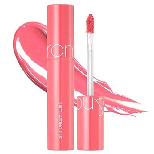 [rom&nd] Juicy Lasting Tint 16 colors | Vivid color, Glossy Finish, Long-lasting, moisturizing, Highlighting, Natural-beauty | Lip Tint for Daily Use, K-beauty | 5.5g/0.2oz No.05 PEACH ME