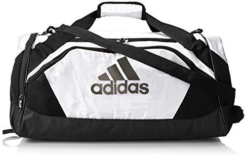 adidas Team Issue II - Bolsa de Lona (tamaño Mediano), Color Blanco, Talla única