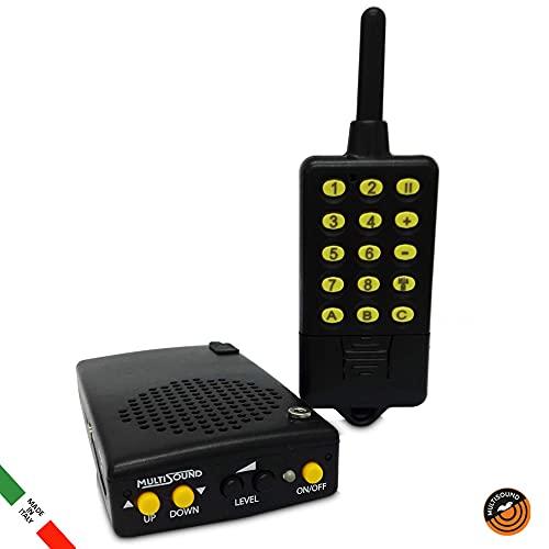 MultiSound - Micro-Lit richiamo elettronico con Telecomando e Memoria 24 canti. specifico per Tordo e Allodola e in Generale per la Piccola migratoria. (AMZ-002)