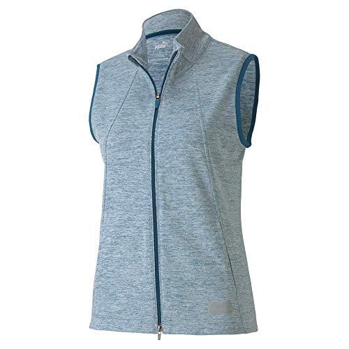 PUMA Golf Women's 2020 Cloudspun Warm Up Vest sin mangas, Digi-azul jaspeado, S para Mujer