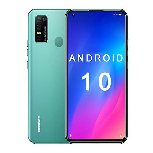 Doogee N30, Android 10, 4GB+128GB, 4G Unlocked Smartphones, 6.5 inch, Face Unlock, 16MP Quad Camera, Dual SIM, WiFi Calling, Unlocked for at&t, Unlocked for tmobile (Green)