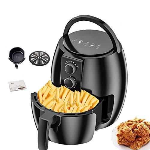 CGBF hetelucht-friteuse zonder olie, airfryer, anti-aanbakmand voor huishoudelijk gebruik, met grote capaciteit, intelligente friteuse voor halogeenverwarming 1350 W 4.5l