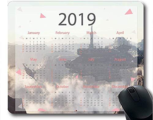 Flying Pig Man 2019 Kalenderauflagen Raumschiff Astronaut Canyon itecture Landscape Gaming Mauspad 30 * 25 * 0,3 cm