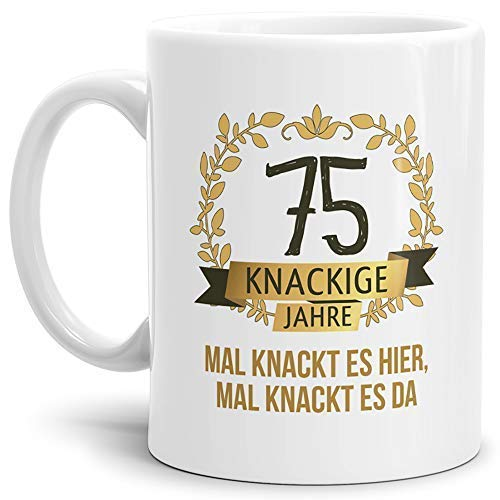 Tassendruck Geburtstags-Tasse Knackige 75