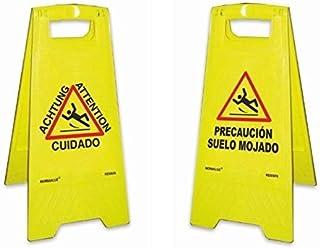 Señal Precaucion Suelo Mojado plegable 62cm Amarillo