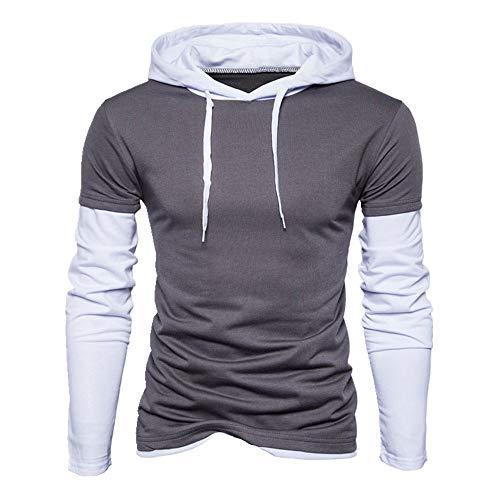 Herren-T-Shirt, langärmelig, für Herbst und Winter Gr. M, grau