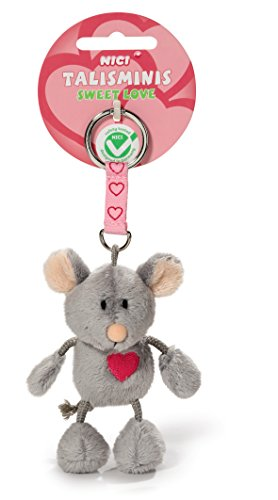 NICI 37388 - Maus Talisminis Sweet Love, 7 cm, Bean Bag Schlüsselanhänger