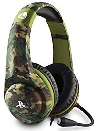 4Gamers PRO4-70 - Camo Verde Militar Auricular Gaming, Licenciado (PS4)