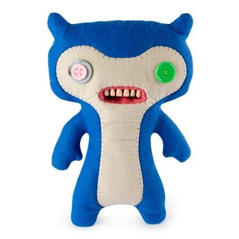 Fuggler - großer Lustiger hässlicher Monster-Plüsch - Blau u. Weiß