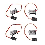Wishiot Tiny 1.5g servo Micro Linear Digital Servo Lightweight Mini Size for Indoor Aircraft Small RC Plane (Pack of 4)