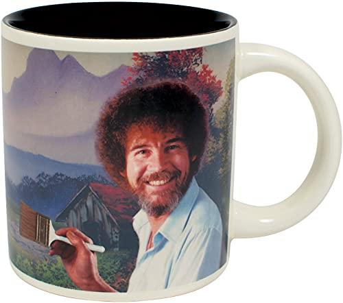 Bob Ross Heat Changing Mug - Add Coffee or Tea and a Happy Little Scene...
