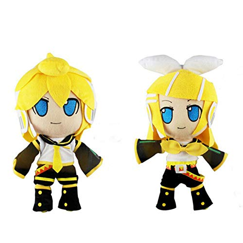 30cm Hatsune Miku Plush Cute Vocaloid Hatsune Miku Kagamine Rin Len Cute Soft Figure Cartoon Plush Doll Baby Toy A and B