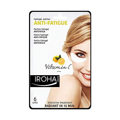 Iroha Nature - Parches Hidrogel para Ojos, Antifatiga con Vitamina C y Aloe Vera, 3 usos | Parches Hydrogel Ojeras Antifatiga