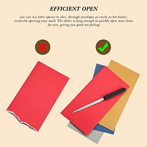 3 Pieces Office Letter Opener Stainless Steel Hand Envelope Slitter Lightweight Open Letter Knife Humanized Grip Handle Staple Removal Tool Mail Opener for School Office Home Photo #3