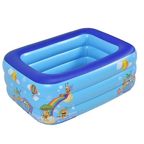 Pool, Kunststoff-Pool, Familienbad, ovaler Pool, Heim Pool Super Bikkusaizu Riesen-Familie Schwimmbad 175 * 140 * 50cm (Size : 150cm)