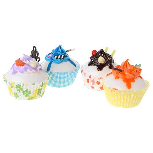 KunmniZ 1 cupcake artificial realista para exhibición en casa, fiesta, festival, estilo aleatorio.